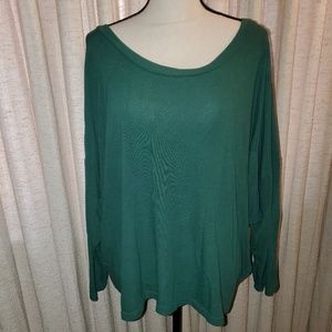 Green dolman sweater sz XXL